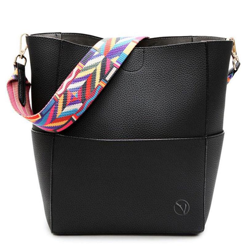 qualità superiore c1780 65888 borsa donna con tracolla colorata nera – Piazza-Venezia