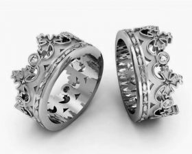 anello donna corona ss
