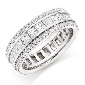 anello donna fascia strassi e baguette