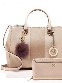 borsa donna con portafoglio rosa